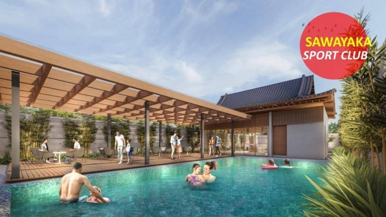 fasilitas go home residence serpong - sawayaka club