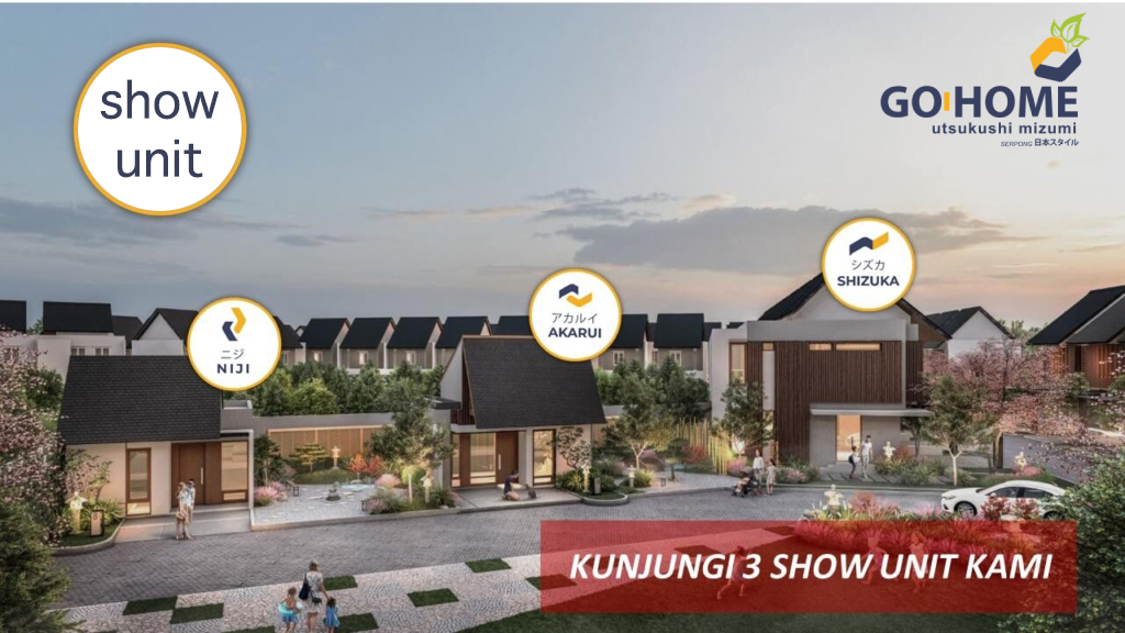show unit go home residence serpong